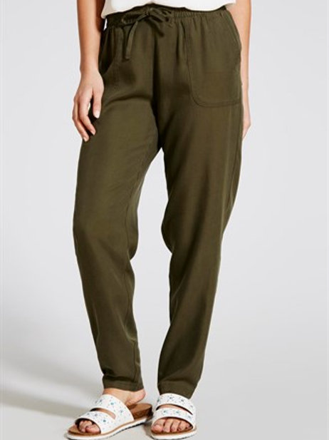 Tencel Tapered Trousers - Khaki