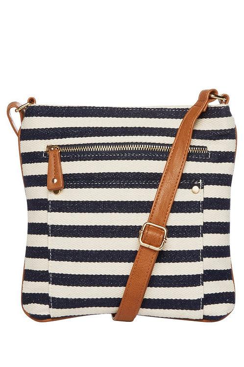 F&F Striped Canvas Cross-Body Bag