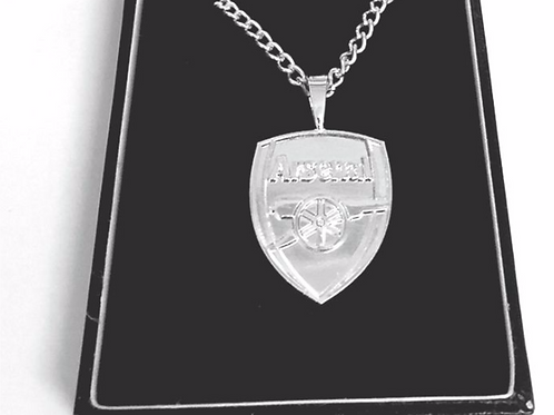 Silver Plated Arsenal Pendant and Chain - Official