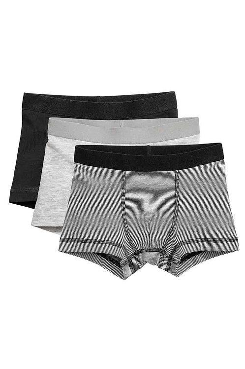 Black 3-pack boxer shorts