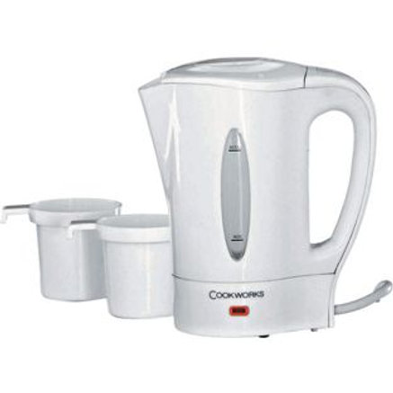 Cookworks Y-600 Travel Kettle - White