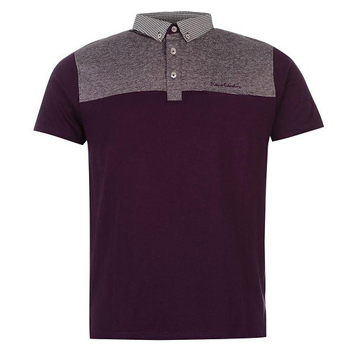 Pierre Cardin Panelled Polo Shirt Mens