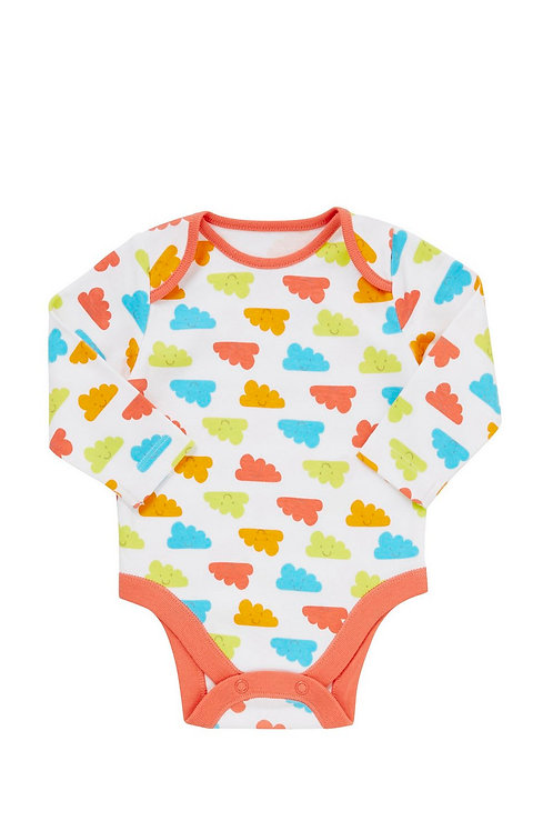 Multi-coloured F&F Cloud Print Bodysuit