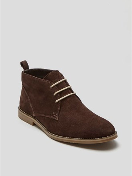 Real Suede Desert Boot - Brown