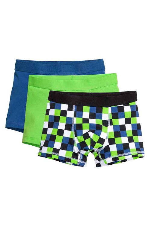 Cornflower blue 3-pack boxer shorts