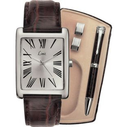Limit Men's Watch, Pen and Cufflinks Set
