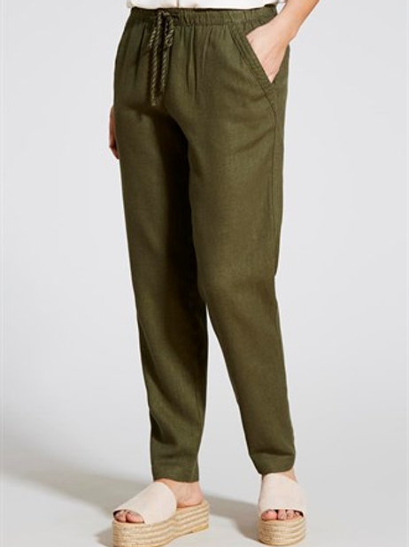 Linen Tapered Leg Trousers