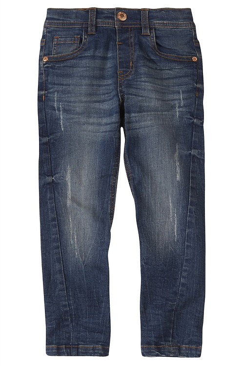 Rebel - Mid Wash Slim Rip Jean