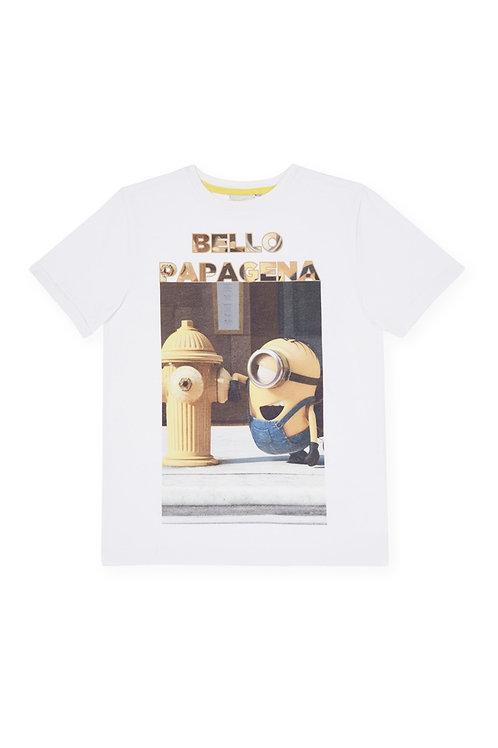 Rebel - White Minion Graphic Tee shirt
