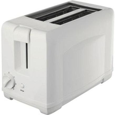 Simple Value Range 2 Slice Toaster - White