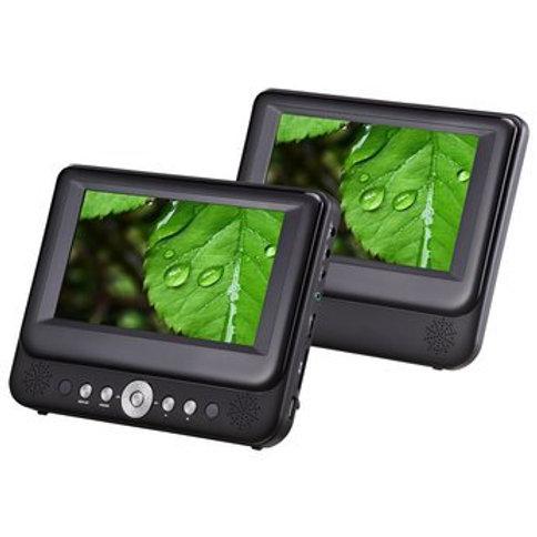"""Alba DVD8791BUK 7"""" LCD 2 Movies at once! Twin Dual"""