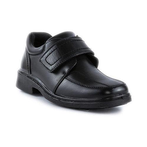 Beckett Boys Black Velcro Smart School Shoe