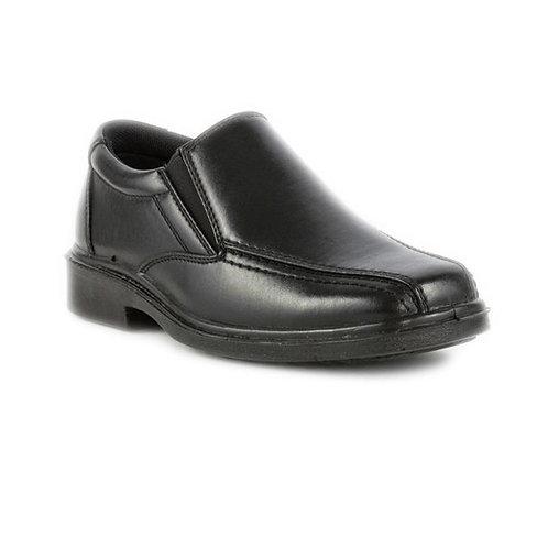 Boys Beckett Formal Black Slip On Shoe