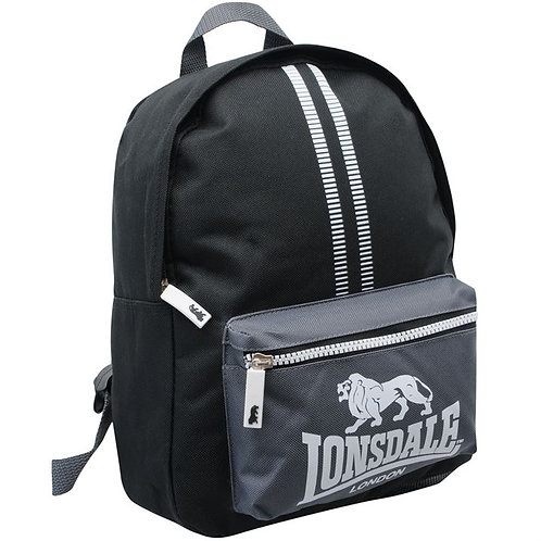 Lonsdale Mini Backpack in Black Charcoal