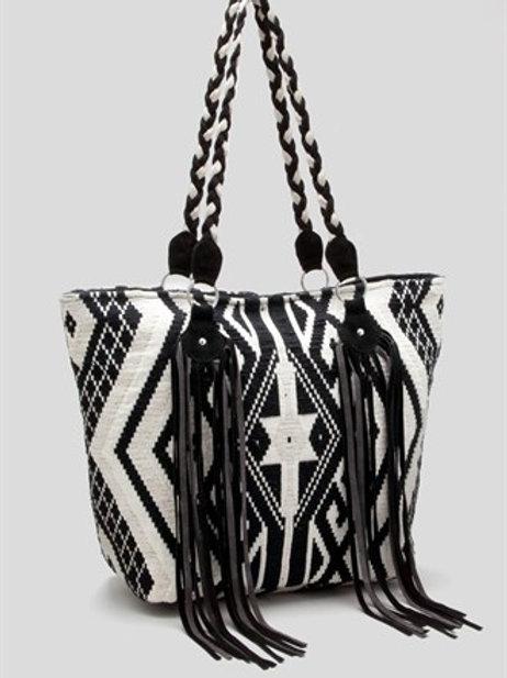 Aztec Fringe Detail Tote Bag
