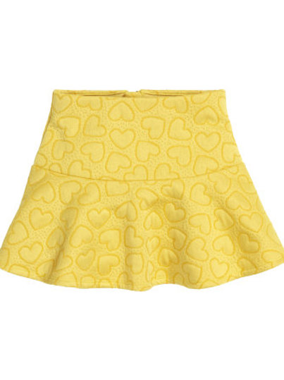 H&M - Mustard Yellow Patterned skirt (2-6yrs)
