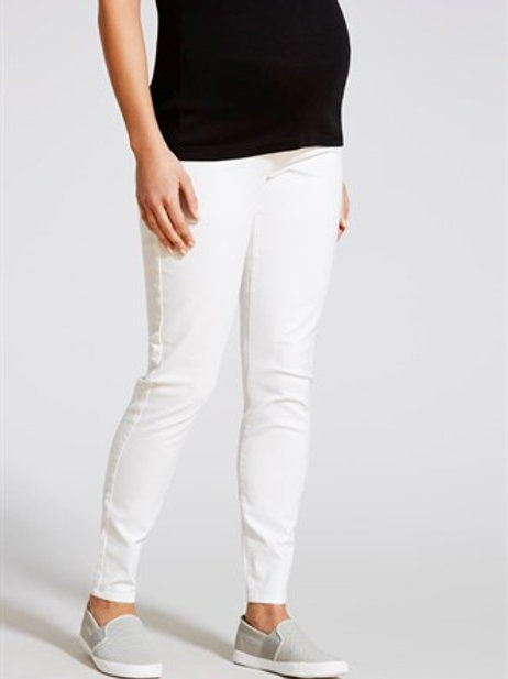 Maternity Pull On Jeggings - White