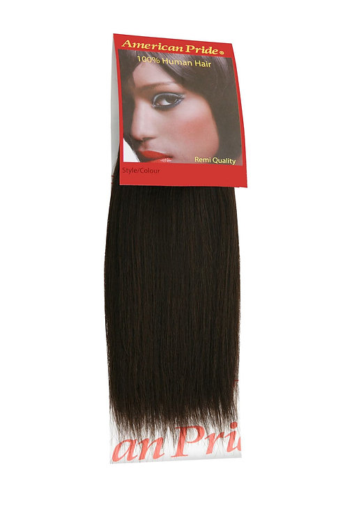 Yaki Weave | Human Hair Extensions 8 inch Brown