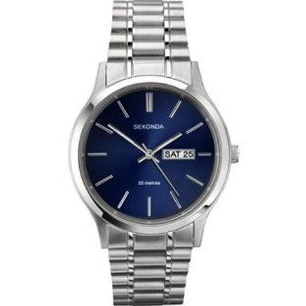 Sekonda Men's Blue Dial Day and Date Watch
