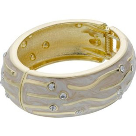 Insignia by LaBante White Wave Crystal Bangle