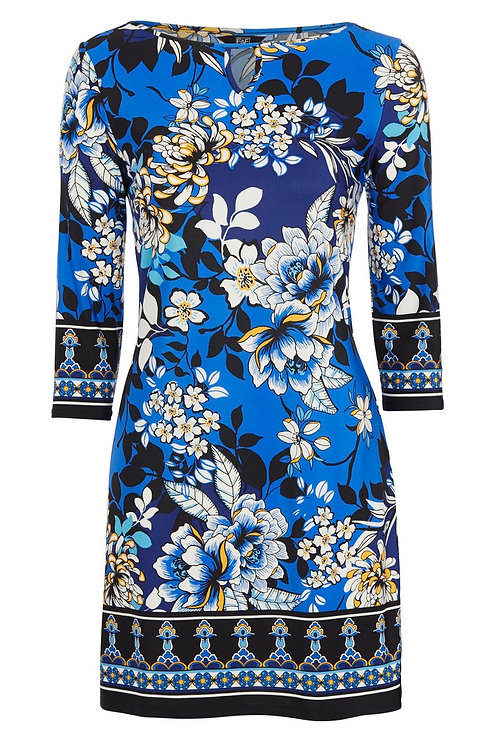 Multi-coloured F&F Oriental Floral Print Dress