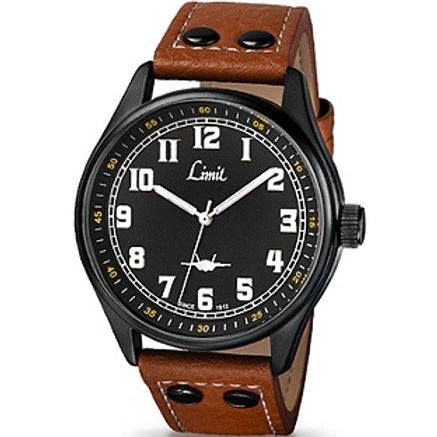 Limit Men's Tan Pilot Style Strap Watch