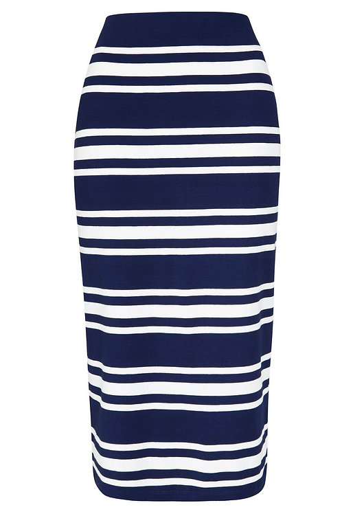 Striped Midi Tube Skirt  by F & F