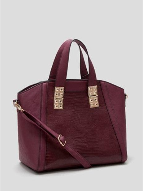 Grid Luxe Stud Tote Bag