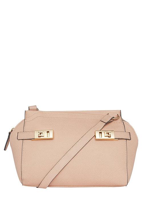 F&F Gold Tone Buckle Trim Mini Tote Bag