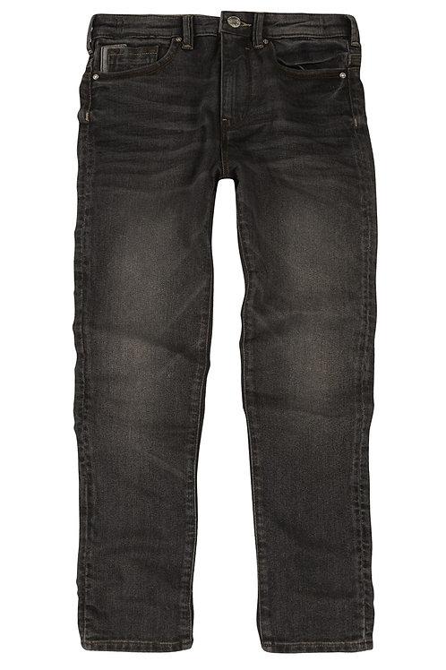 Rebel - Dark Grey Reverse Denim Skinny Jean