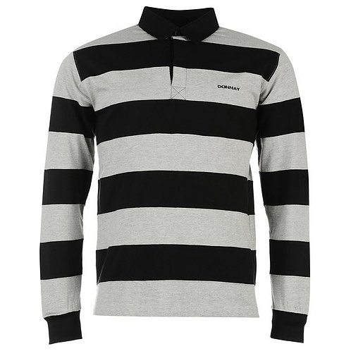Donnay Panel Rugby Shirt Mens - Grey