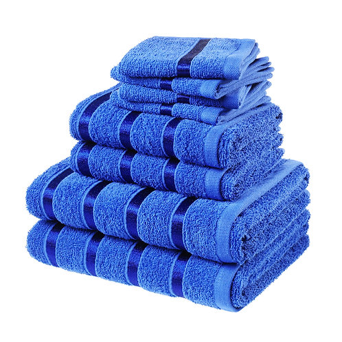 8 PCS BALE TOWEL SET - Royal Blue