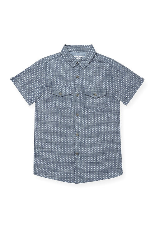 Rebel - Geo Print Short Sleeve Shirt