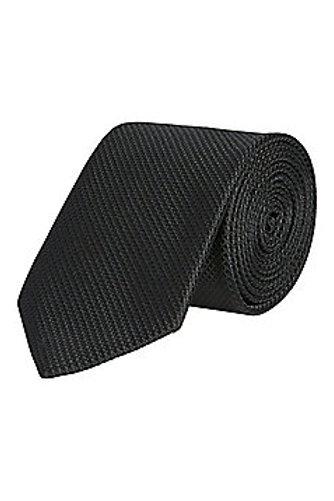 Black F&F Textured Regular Width Tie