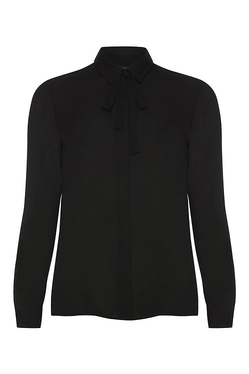 Black Removable Tie Neck Blouse by Atmosphere