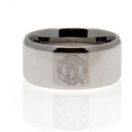 Stainless Steel Man Utd Ring - Size R