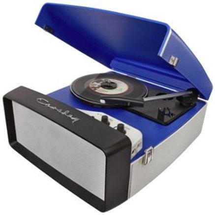 Crosley Collegiate Portable Turntable - Blue and W