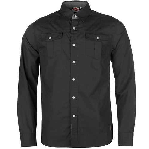 Lee Cooper Croft Long Sleeve Shirt Men's - Grey
