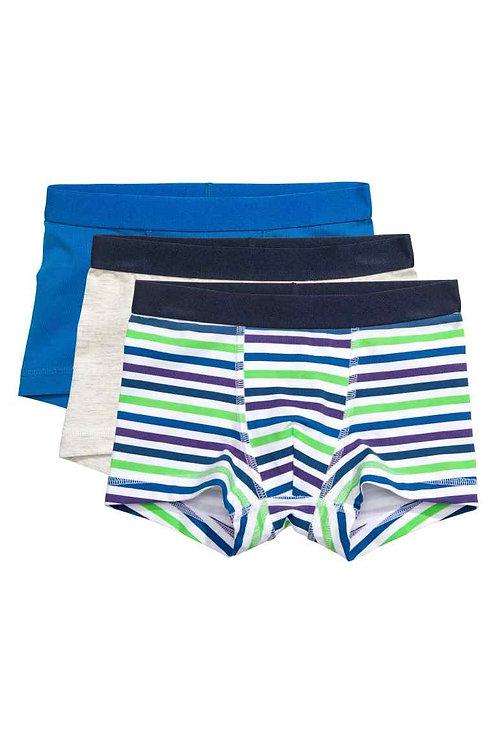 Cornflower blue 3-pack boxer shorts