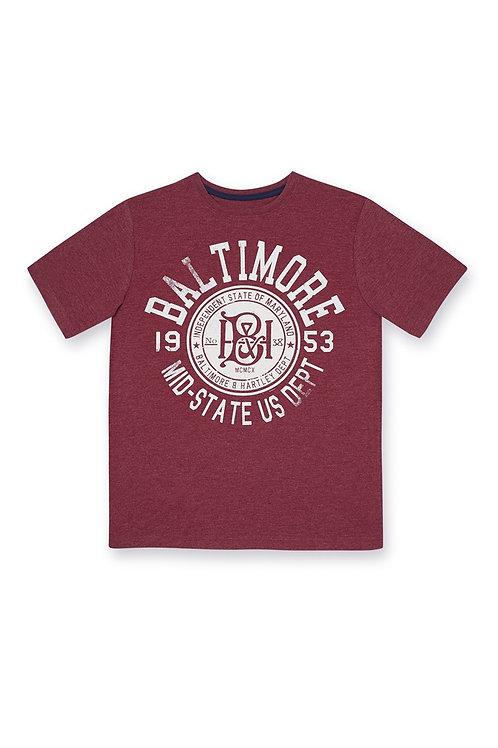 Rebel - Red Baltimore T-Shirt