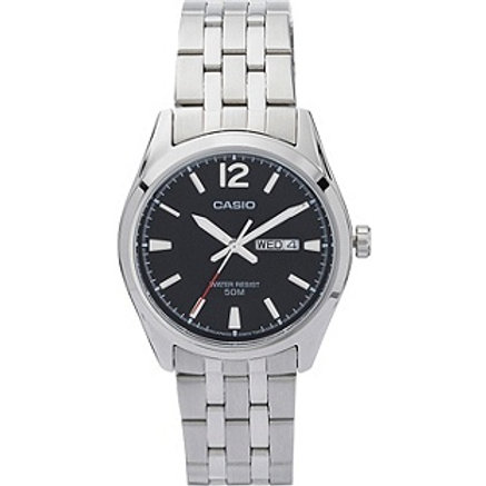 Casio Men's Classic Black Dial Date Watch