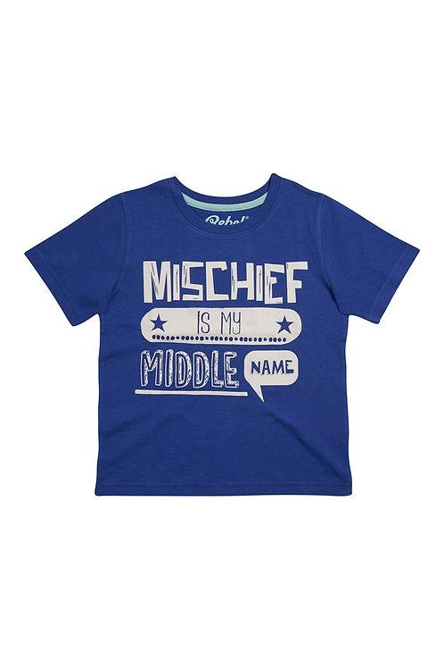 Blue Mischief Is T-Shirt from Rebel