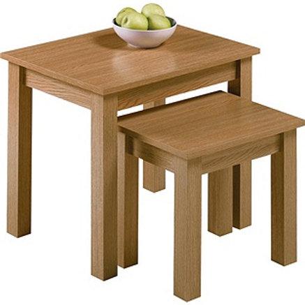 Nest of 2 Tables - Oak Effect