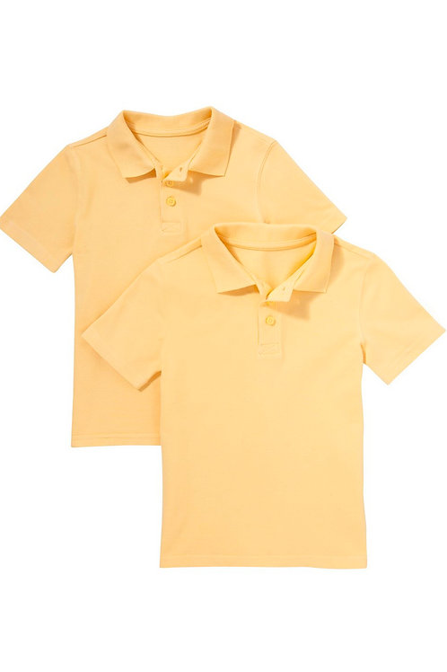 2 Pack of Unisex Polo T-Shirts in Pique