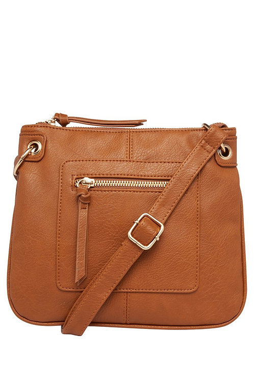 Tan Cross-Body Bag