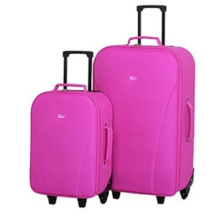 Go Explore 2 Piece Wheeled Luggage Set - Pink
