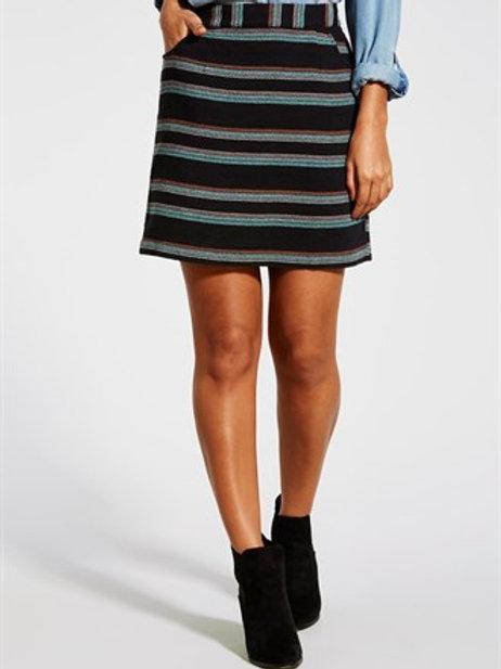 Jacquard Stripe Mini Skirt