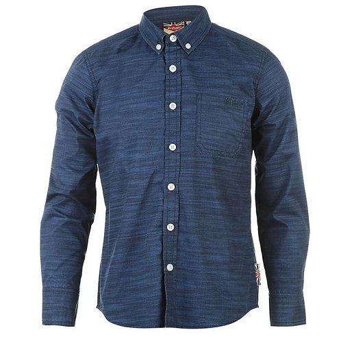 Lee Cooper Long Sleeve All Over Pattern Textile Shirt Boys