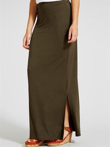 Jersey Maxi Skirt - Khaki