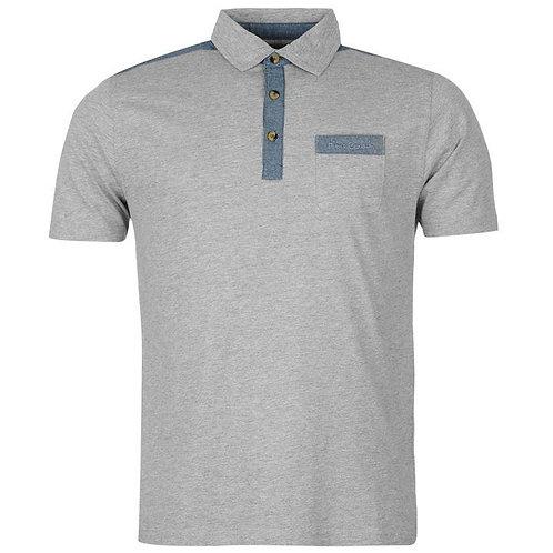 Pierre Cardin Cardin Jersey Denim Polo Shirt Mens - Grey Marl